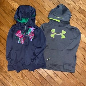 Under Armour Zip up and Hoodie Combo